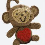 crochet love monkey to make free