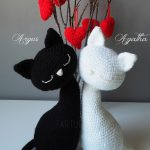 Cute Valentine's Day Cat Pair Amigurumi Pattern