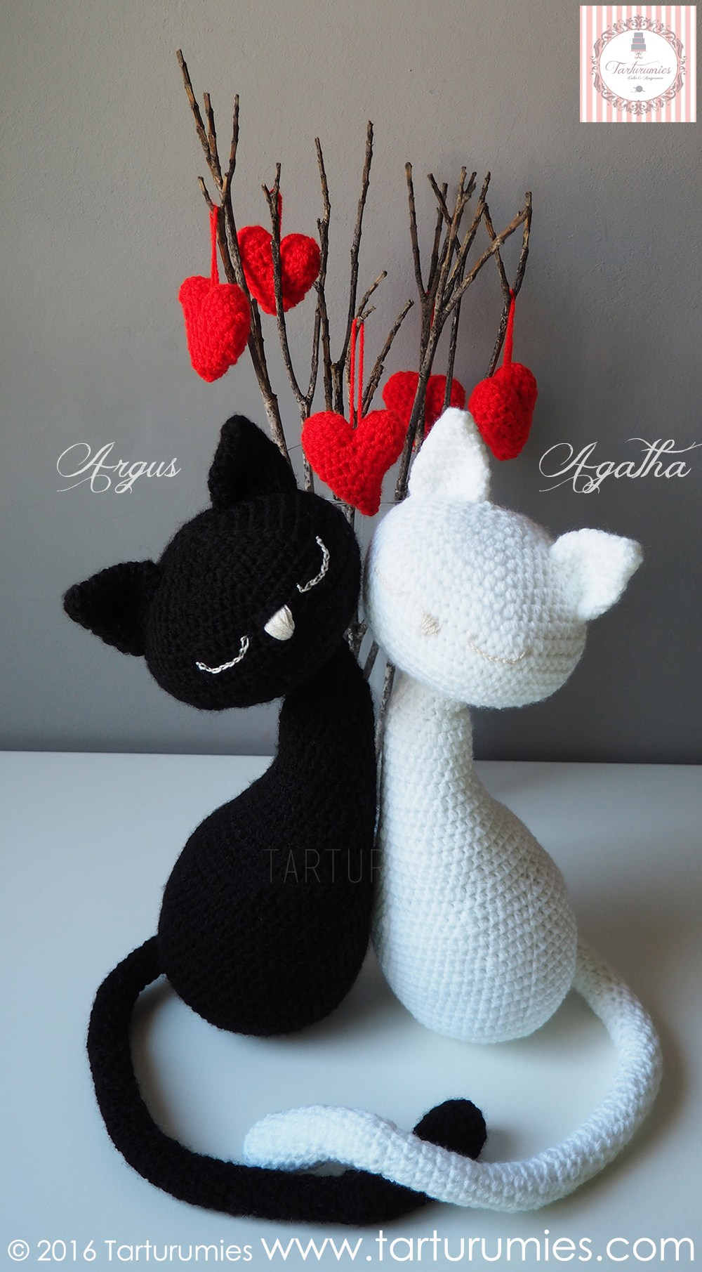 Cute Valentines Day Cat Pair Amigurumi Pattern Crochet Kingdom