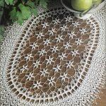 Floral Oval Doily Crochet Pattern