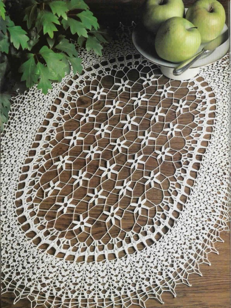 Free Crochet Oblong Tablecloth Patterns : 90+ Free Crochet Doily Patterns Youll Love Making (93 ...