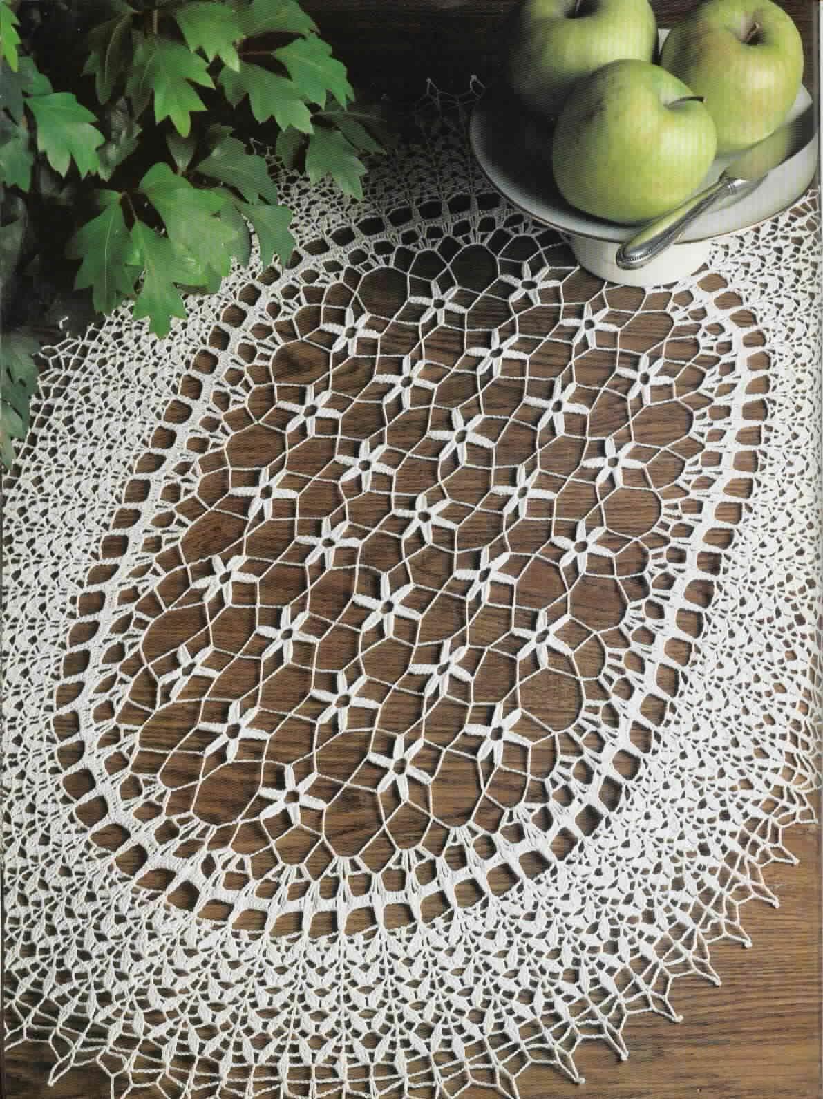 Floral Oval Doily Crochet Pattern ⋆ Crochet Kingdom