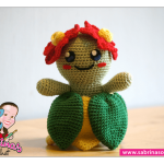 Free crochet pattern Bellossom (Pokemon)