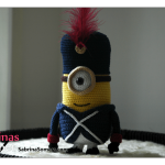 Free crochet pattern Minion (French Soldier)