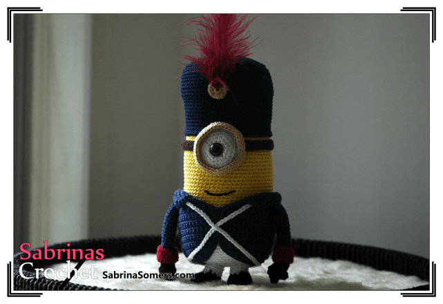 Free Crochet Pattern Minion French Soldier ⋆ Crochet Kingdom Extraordinary Free Minion Crochet Pattern
