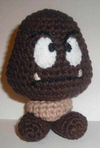 Goomba  Goombah  From Super Mario Brothers  U22c6 Crochet Kingdom