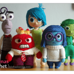 Inside Out Crochet Character Patterns for Free