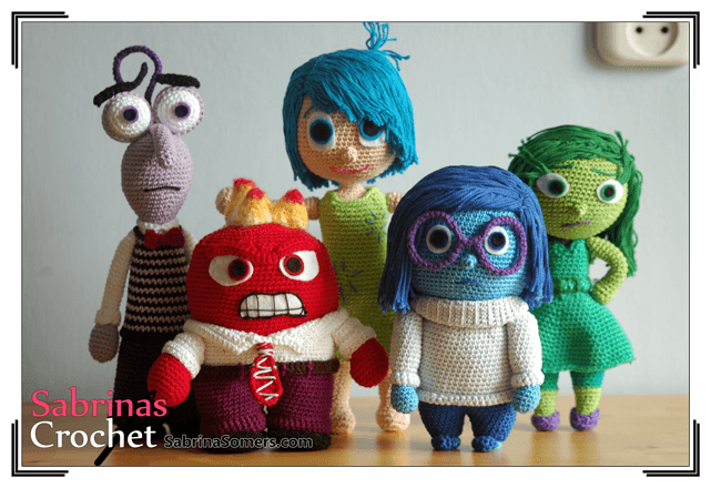 Free Amigurumi Disney Patterns : Inside out crochet character patterns for free ⋆ crochet kingdom