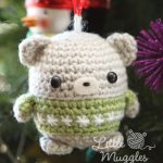 Little Muggles Baby Bear Ornament Crochet Amigurumi Pattern