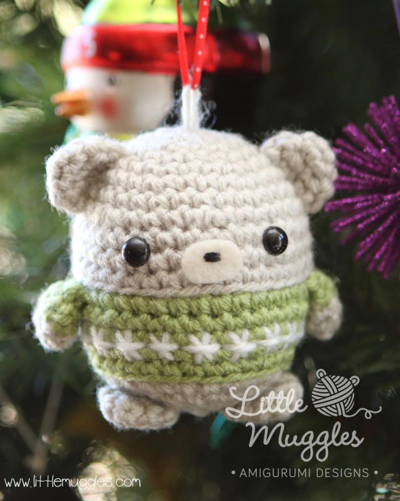 Little Muggles Baby Bear Ornament Crochet Amigurumi Pattern