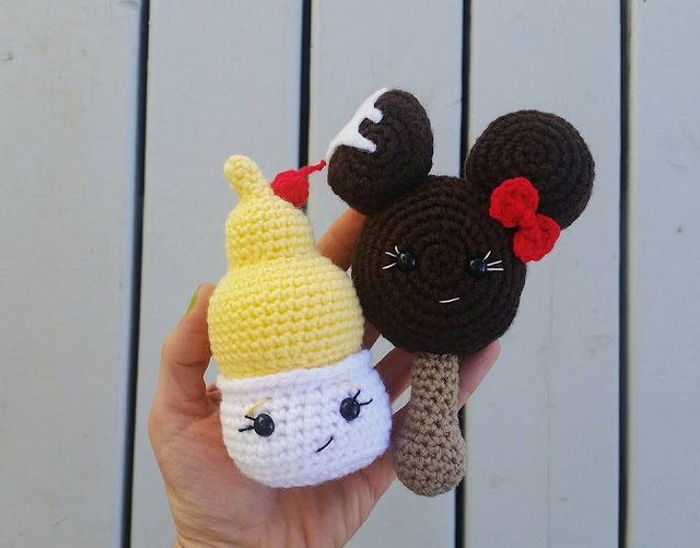 Mini Dole Whip and Ice Cream Bar Amigurumi Crochet Patterns