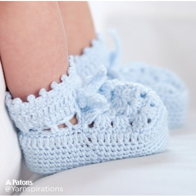 Patons Granny Motif Crochet Booties