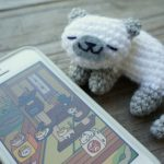 Sleeping Neko Atsume Kitty Free Crochet pattern