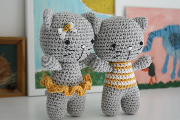 Amigurumi For Free : Small cat amigurumi free crochet pattern ⋆ crochet kingdom