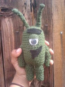Free Crochet Plankton (from spongebob) Pattern
