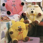 animal pillows crochet pattern