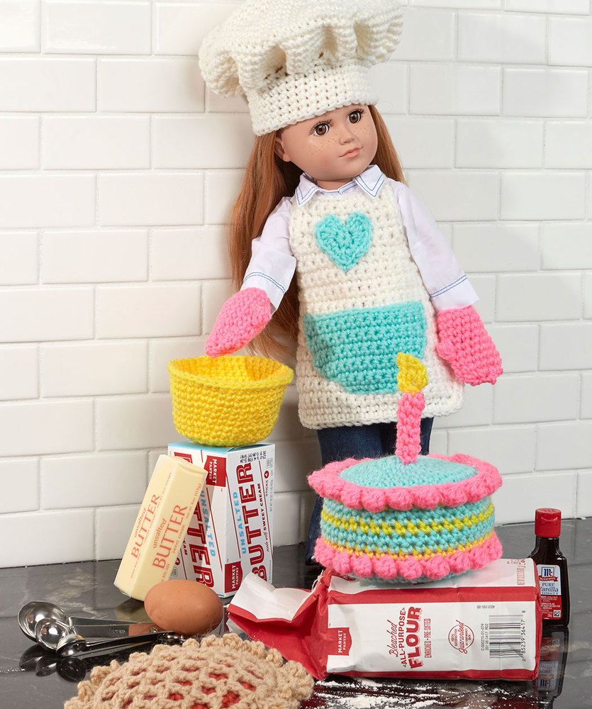 Baking Chef Doll Free Crochet Pattern