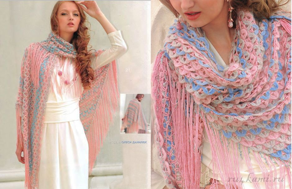 Beautiful Crochet Shawl With Diagrams  U22c6 Crochet Kingdom
