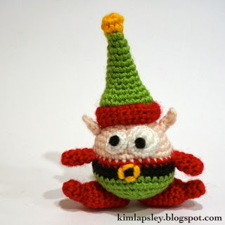 Berg the Christmas Elf Free Amigurumi Crochet Pattern