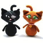Black Cat Ginger Cat Free Crochet Amigurumi Pattern