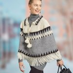 Canyon Ridge Fringed Poncho Free Crochet Pattern