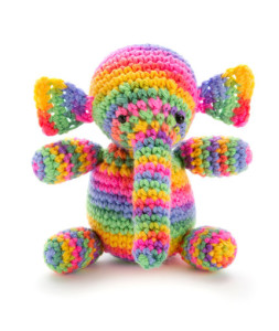 Colorful Rainbow Elephant Free Crochet Toy Pattern
