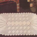 Crochet Doily with Fan Ends Pattern Diagram