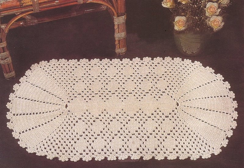 Crochet Doily with Fan Ends Pattern Diagram