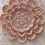 Crochet Flower Doily with Diagram