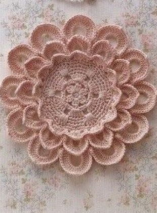 Crochet flower doily with diagram crochet kingdom crochet flower doily with diagram ccuart Image collections