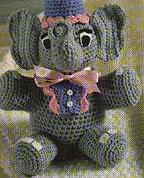 Cute Circus Elephant Amigurumi Crochet Pattern Free