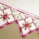 Diamond Flower Border Crochet Pattern