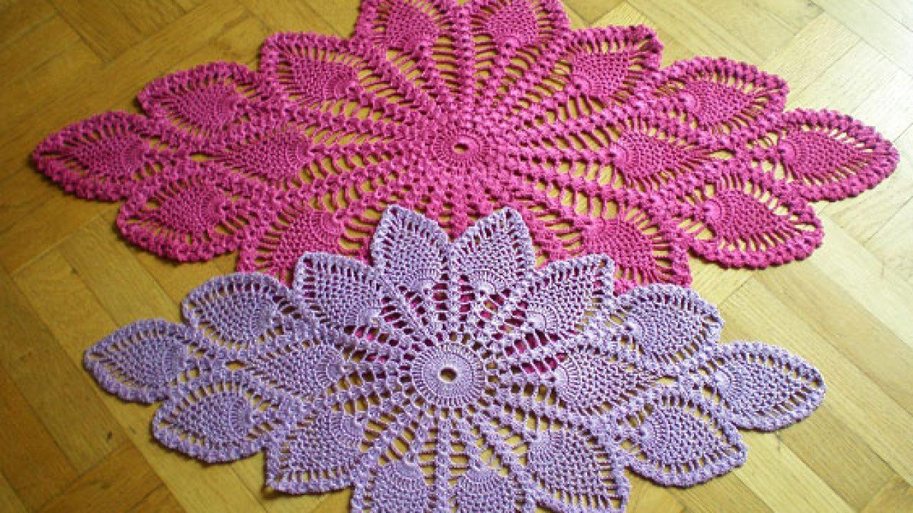 Diamond Oval Pineapple Doily Free Pattern Diagram ⋆ Crochet Kingdom