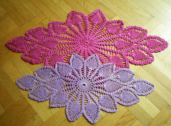 Diamond Oval Pineapple Doily Free Pattern Diagram Crochet Kingdom