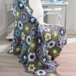 Flowers in Bloom Throw Free Crochet Pattern