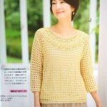 Lace Round Yoke Crochet Sweater Pattern