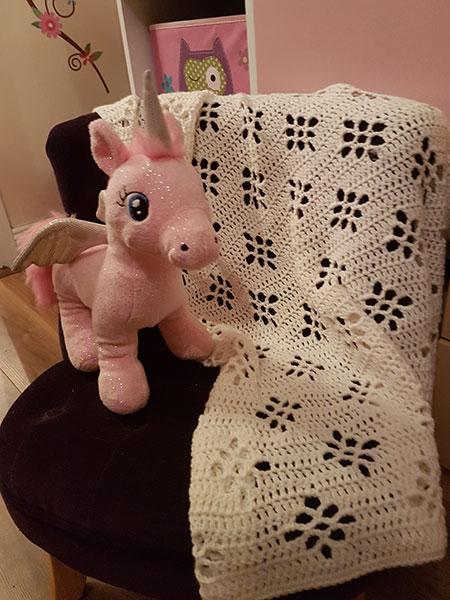 Little Axel Flower Baby Blanket Free Crochet Pattern