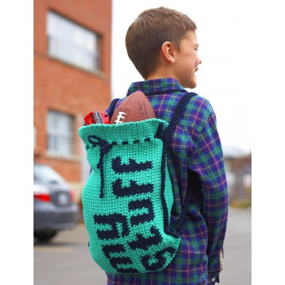 My Stuff' Drawstring Bag Free Crochet Pattern