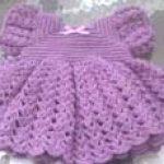 Ruffled Baby Dress Free Crochet Pattern