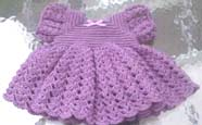 Ruffled Baby Dress Free Crochet Pattern