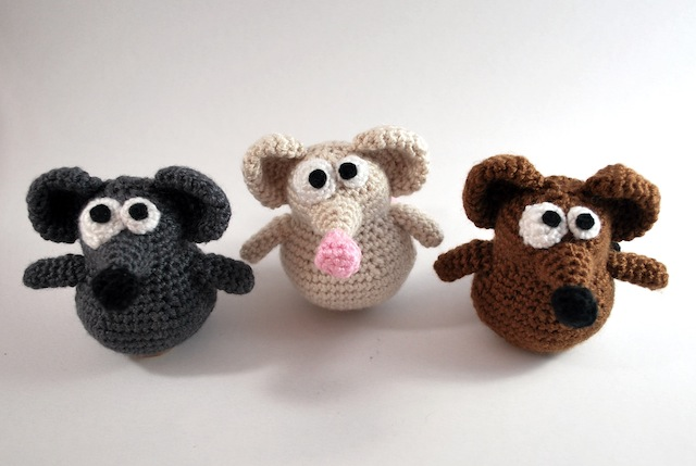 The Oddball Mice free crochet pattern