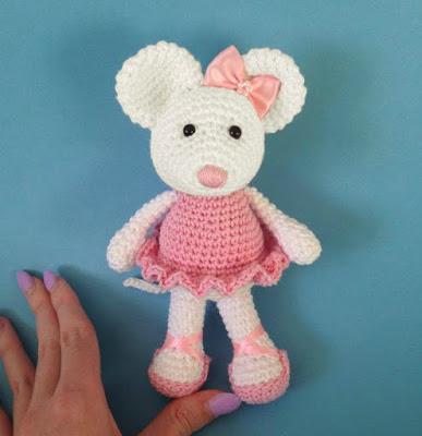 Ballerina Mouse Crochet Pattern Amigurumi