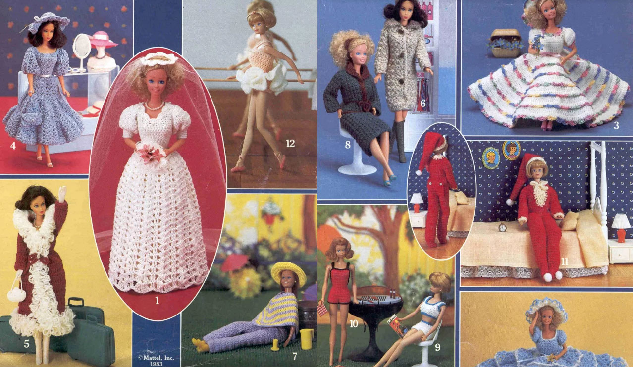 1980s Crocheted Barbie Doll Clothes Crochet Kingdom