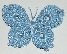 3-D Butterfly free crochet pattern