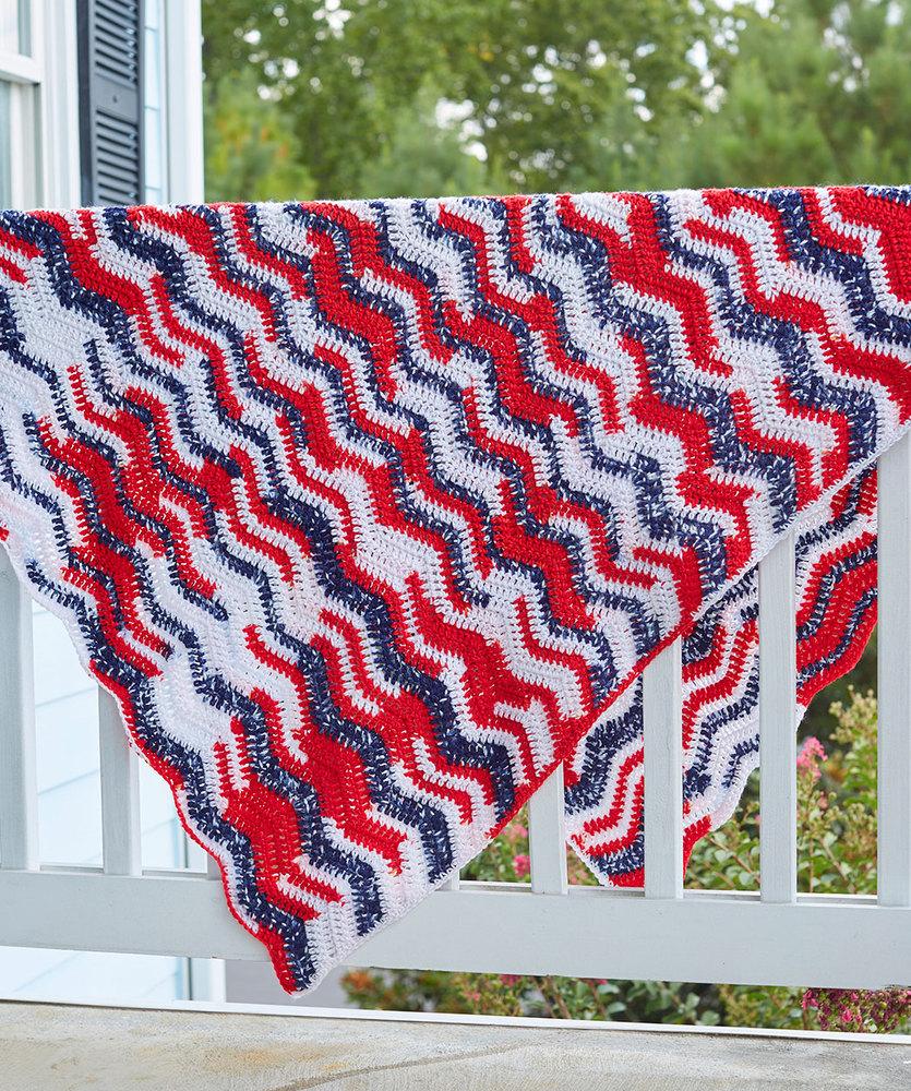 American Waves Throw Free Knitting Pattern