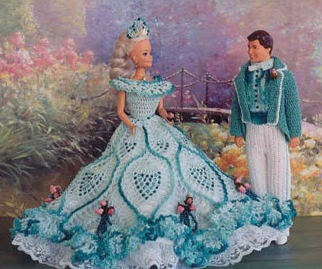 Belle Of The Ball Barbie Crochet Clothes Pattern Crochet Kingdom