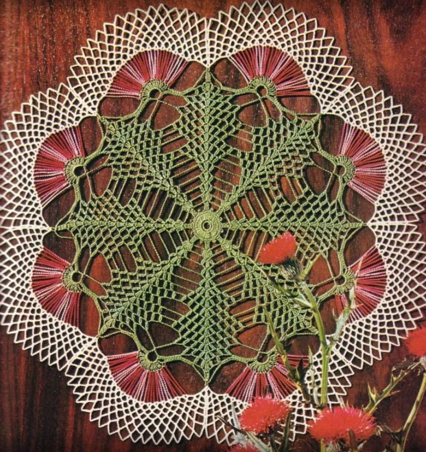 Crochet Doily Table Centre Crochet Pattern ⋆ Crochet Kingdom
