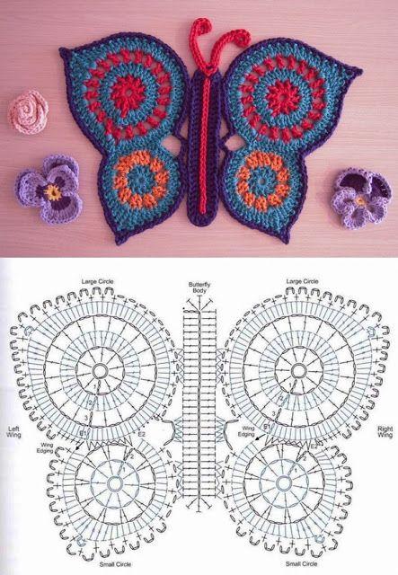 Free Crochet Pattern For Butterfly Wings : 50+ Free Crochet Butterfly Patterns ? Crochet Kingdom