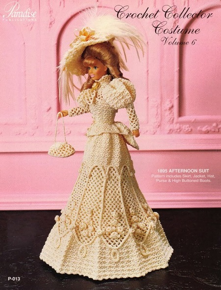 Crochet Barbie Doll 1895 Afternoon Suit