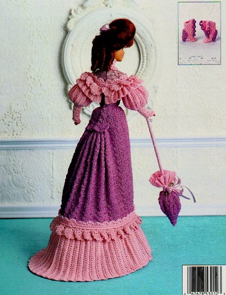 Crochet Barbie Doll 1903 Promenade Dress